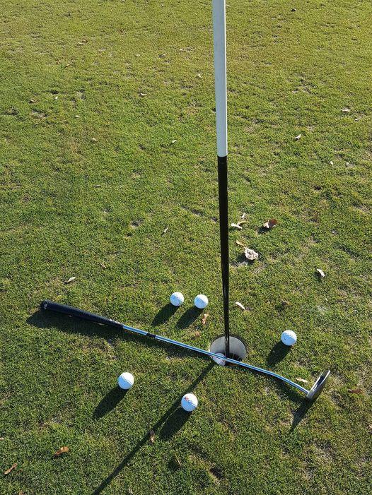Golf mit Schläger
